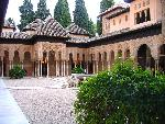 architecture islamique Al Hambra in Granada  Spain courtyard jpg