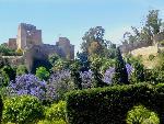 architecture islamique Alcazaba Fortress in Malaga  Spain jpg