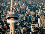 canada Aerial View of the CN Tower Toronto Canada jpg