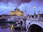 italie Castel Sant Angelo and Bridge Rome Italy jpg