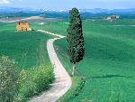 italie Country Road Tuscany Italy jpg