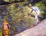 Gustave Caillebotte Caillebotte Gustave Boater Pulling on His Perissoire jpg