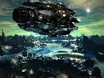 sci fi sf dreadnought over cyan jpg